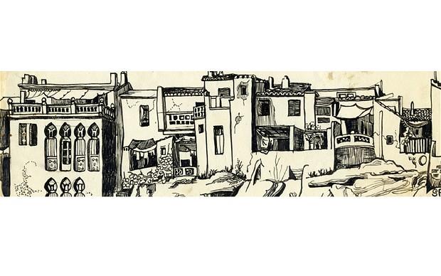 Sylvia Plath drawing - Benidorm